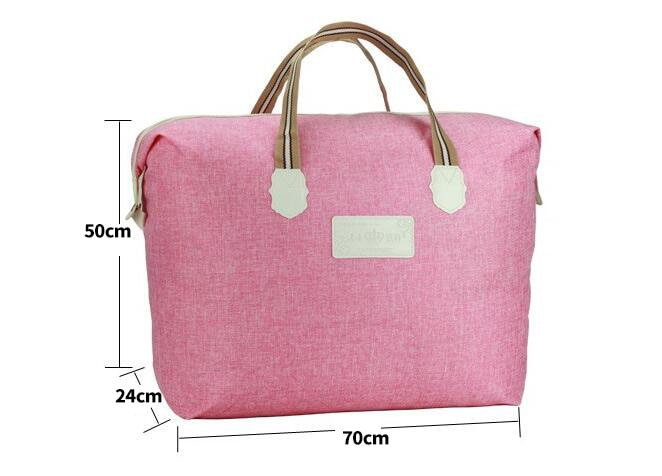 Linen Fashion Packing Cubes Travel Bag Large Capacity Bag Women Folding Bag Unisex Luggage Travel Handbags 30%OFF T528