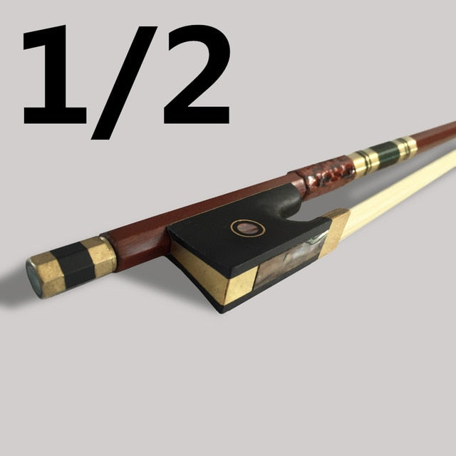 Straight Brazilwood Octagonal Violin Bow Ebony Jujube Frog Horsehair Beef Tendons Twined Fiddle Violino Bows Parts Colored Shell