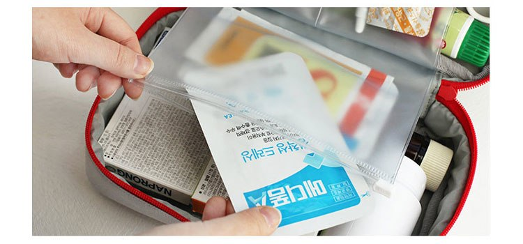 Travel bags Drug sorting package Life supplies packing cubes Small Carrying Bag durable Portable organize bag red gray