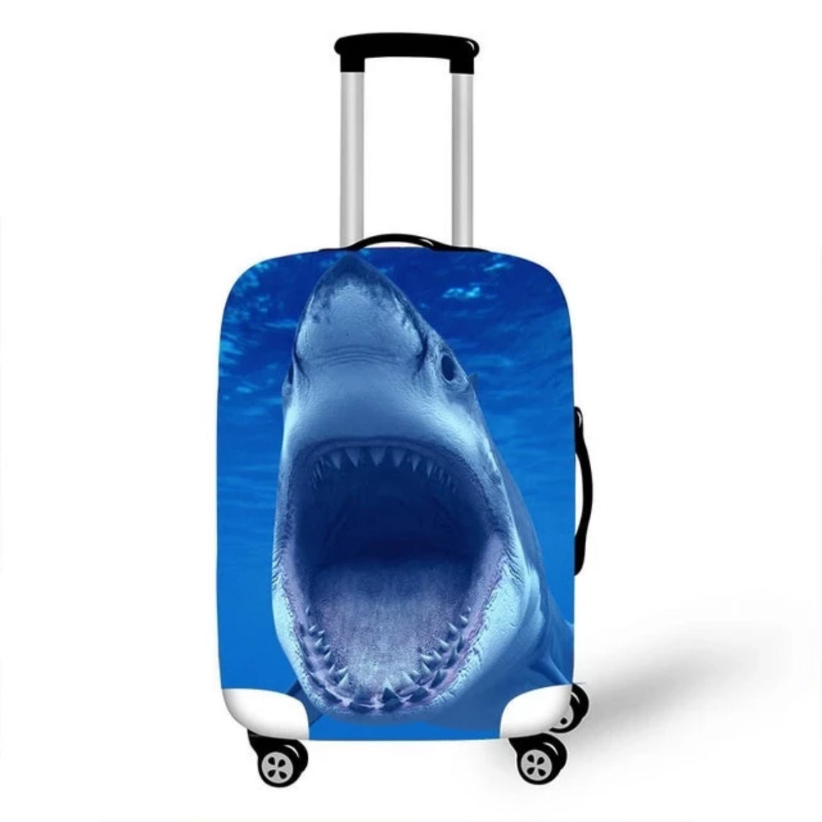 Fiercely Shark Thick Elastic Luggage Protective Covers With Zipper 18-28 Inch Case Animal Travel Baggage Protect Cover For Women