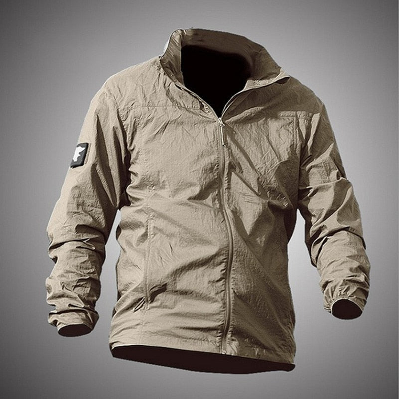 Outdoor Sports Sunscreen Quick Dry Thin Skin Clothing Jacket Waterproof Anti UV Breathable Hooded Windbreaker Tactical Coat Tops