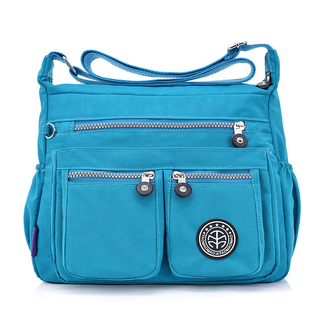 Women Nylon Shoulder Bags Female Solid Zipper Luxury Female Handag Designer Messenger Bags Summer Beach Crossbody Bag Sac A Main
