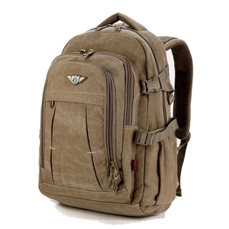 Man's Canvas Backpack Travel Schoolbag Male Backpack Men Large Capacity Rucksack Shoulder School Bag Mochila Escolar