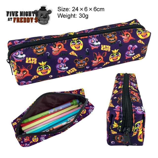 New Undertale Sans Papyrus Skull Canvas Pencil Bag Printing Pouch Zipper Case Student Gift Wallet Bag Gift