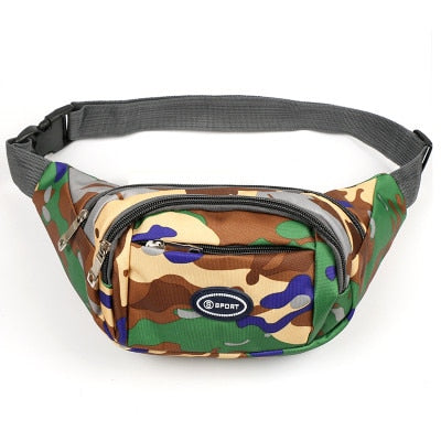 New Fashion Women Shopping Camouflage Waist bags!Hot All-match Lady Waist Packs Top Versalite Canvas small mobile&change holder