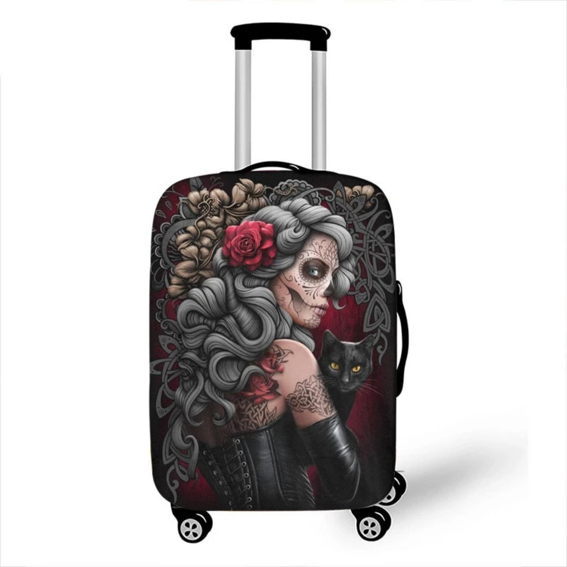 Dark Gothic Skull / Beauty Luggage Protective Cover Waterproof Elastic Suitcase Covers Travel Accessories Covers For 18-28 inch