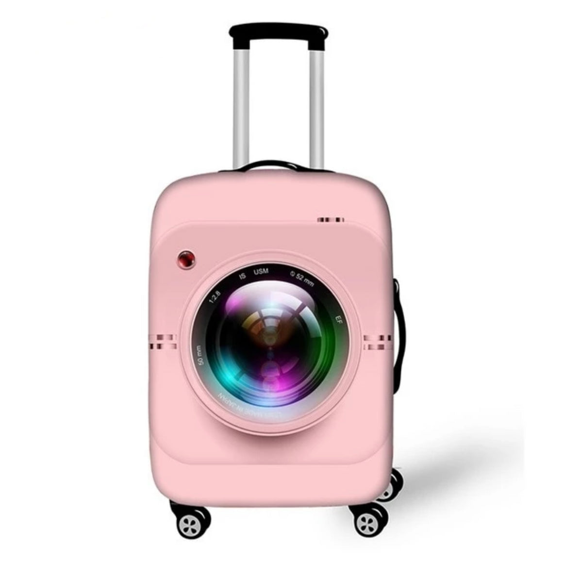 18-28 Inch Cute Pink Camera Suitcase Cover Women Travel Luggage Suitcase Protector for Girls Trolley Durable Protective Cover