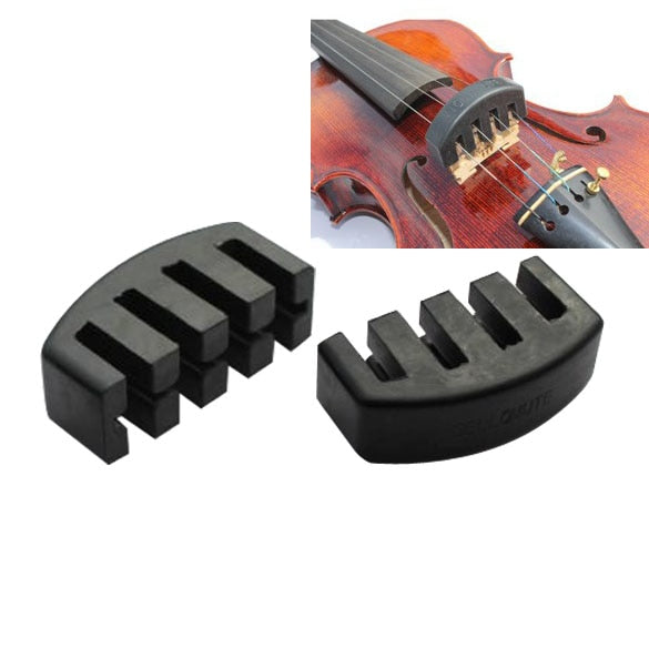 Professional Rubber Practice Five-prong Mute for 1/2-3/4 Violin Acoustic Electric Silencer Violin Accessories Musical Instrument
