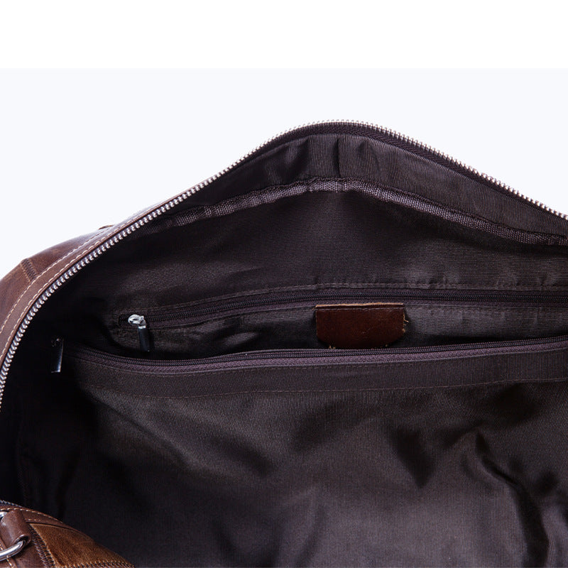 Brand  Genuine Leather Large Travel Bag Duffle Unisex Handbag Cross Body Shoulder Bag Cowhide Messenger Bags Men&Women