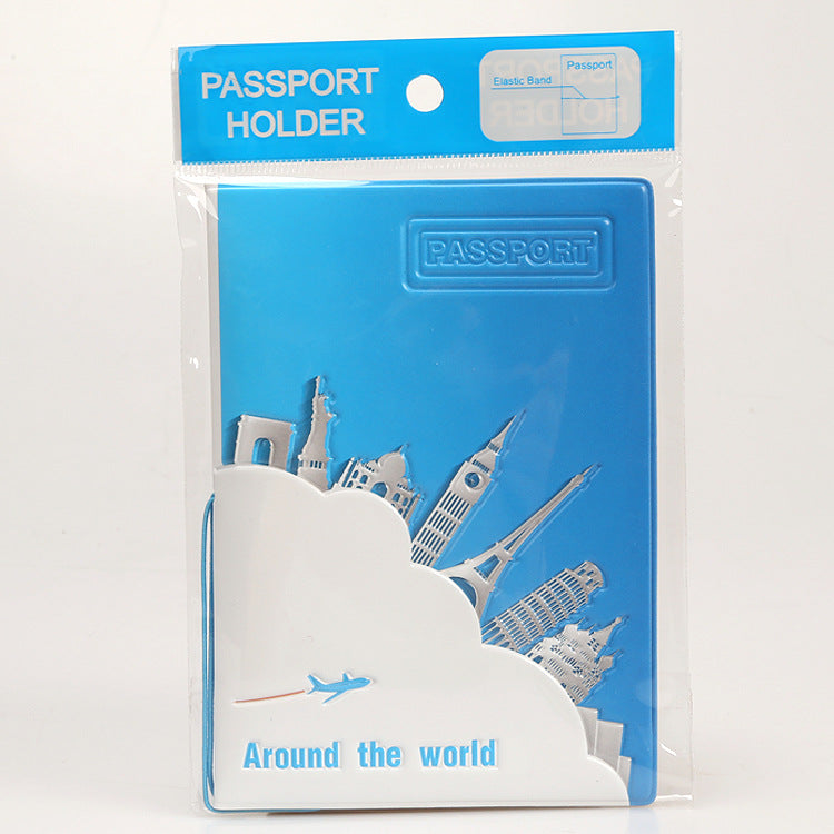 OKOKC Travel Around The World Passport Cover Fashion Beautiful Passport Folder PVC Protective Cover Travel Accessories
