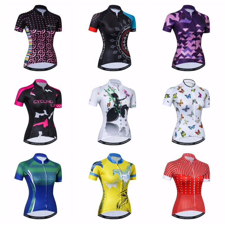 Weimostar Cycling Jersey women Bike Jerseys 2018 road MTB bicycle Clothing Short Sleeve Ropa Ciclismo maillot white Racing top