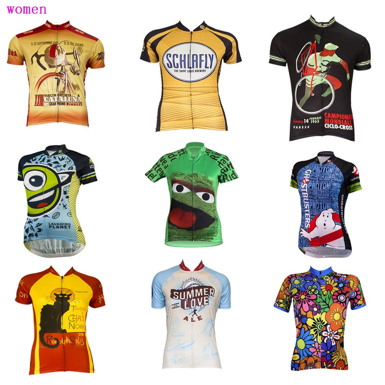 multiple choices Women cycling jersey Ropa ciclismo Summer Short sleeve bike wear movement Breathable cycling clothing MTB
