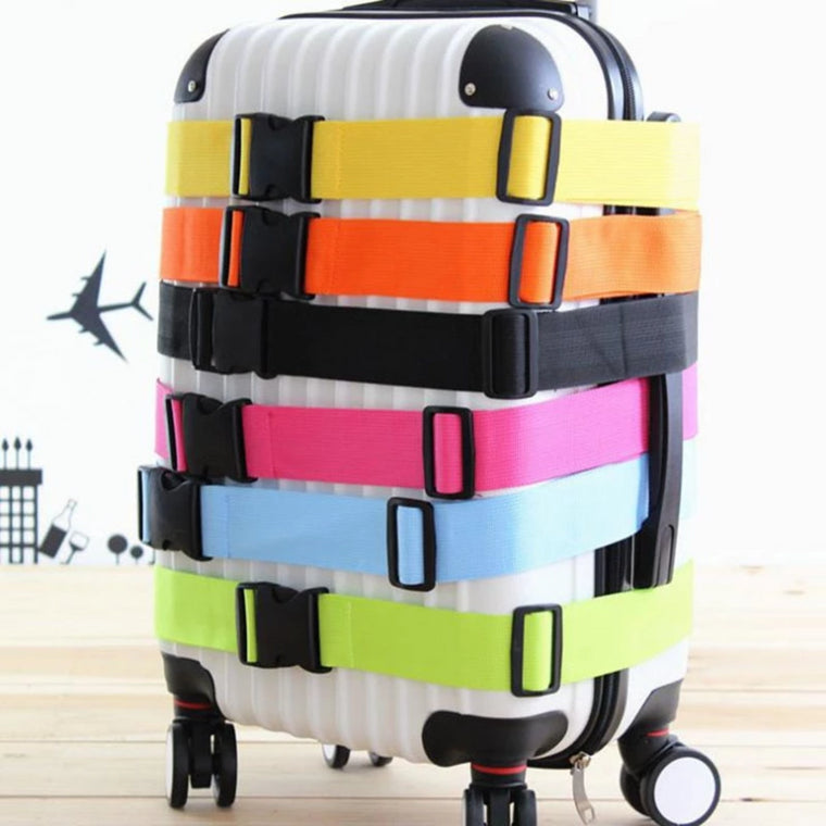 GLHGJP Rainbow Travel Luggage Strap Nylon Adjustable Buckle Luggage Protective Belt Travel Accessories Suitcase Packing Belt