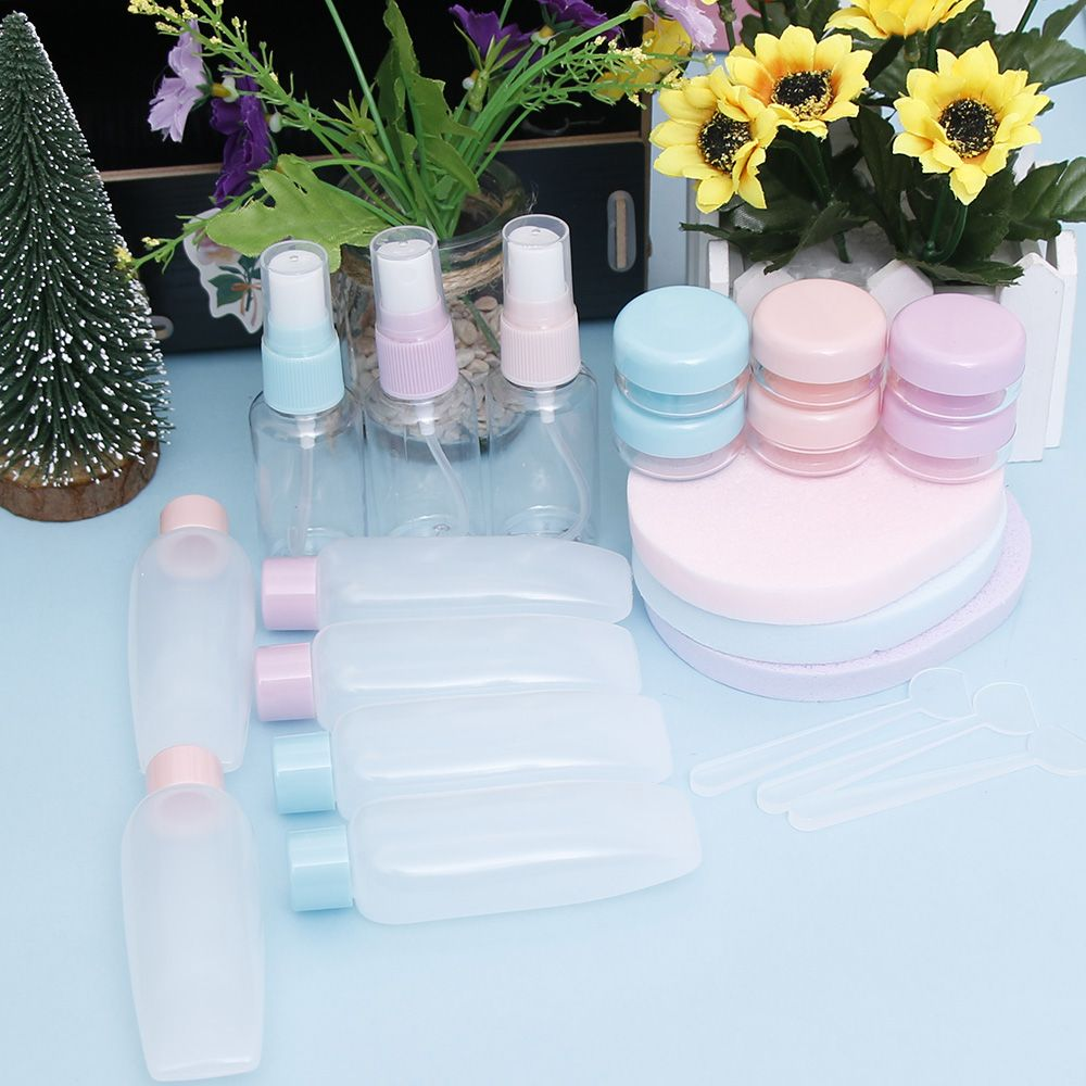 7 units / set Diffuser Spray Spray Portable Rechargeable Makeup Plastic Compression Bottles For Travel