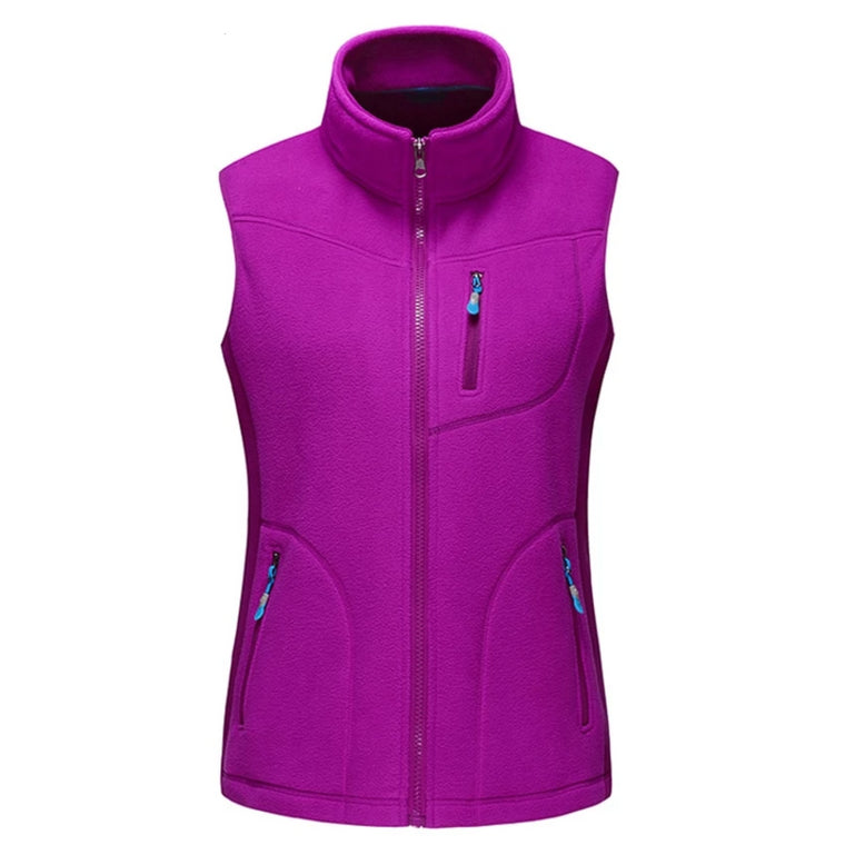 Mountainskin Outdoor Fleece Vest Women's Winter Hiking Climbing Trekking Sleeveless Jackets Camping Softshell Female Vest RW074