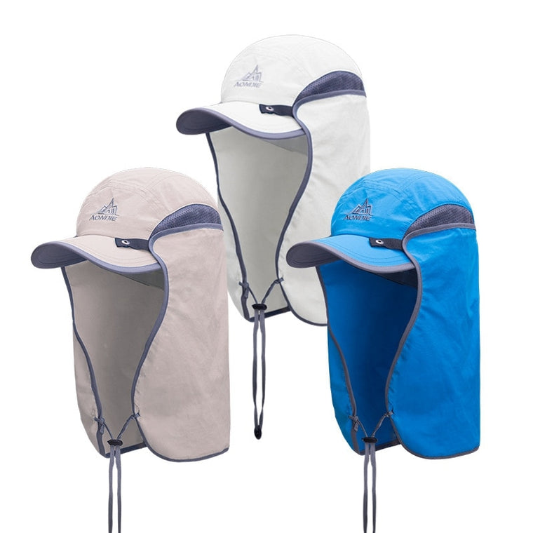 Aonijie Unisex UV Protection Hat Summer With Removable Neck Outdoor Cap Fishing Cap 3 Colors