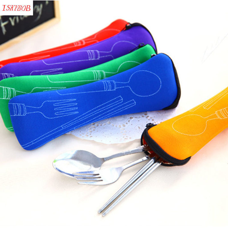 1 Set Traveling Stainless Steel Convenient Portable Bag cute Packing Organizers