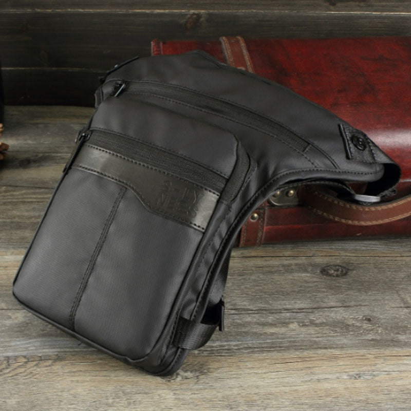 New Men Waterproof Oxford Ride Leg Bag Drop Fanny Waist Bags Military Motorcycle Riding Waist Leg Bag Crossbody Bag