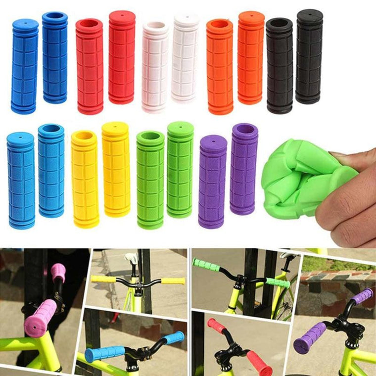 1 Pair Bicycle Handlebar Grips Soft Rubber Cycling X M Mountain Bike Scooter Fixed Gear Bar End Parts Accessory Tool 88  YS-BUY
