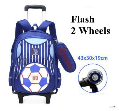 Wheeled backpack for kids Rolling bags for boys Student trolley backpack school bags with wheels Children travel trolley Mochila