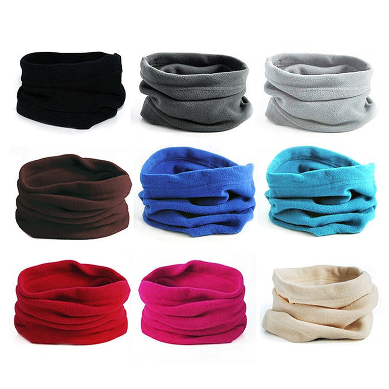 Outdoor Riding Fleece Neckerchief Pullover Neck Gaiter Multi-functional Winter Headwear Warm Keeping Mask Hat For Men And Women