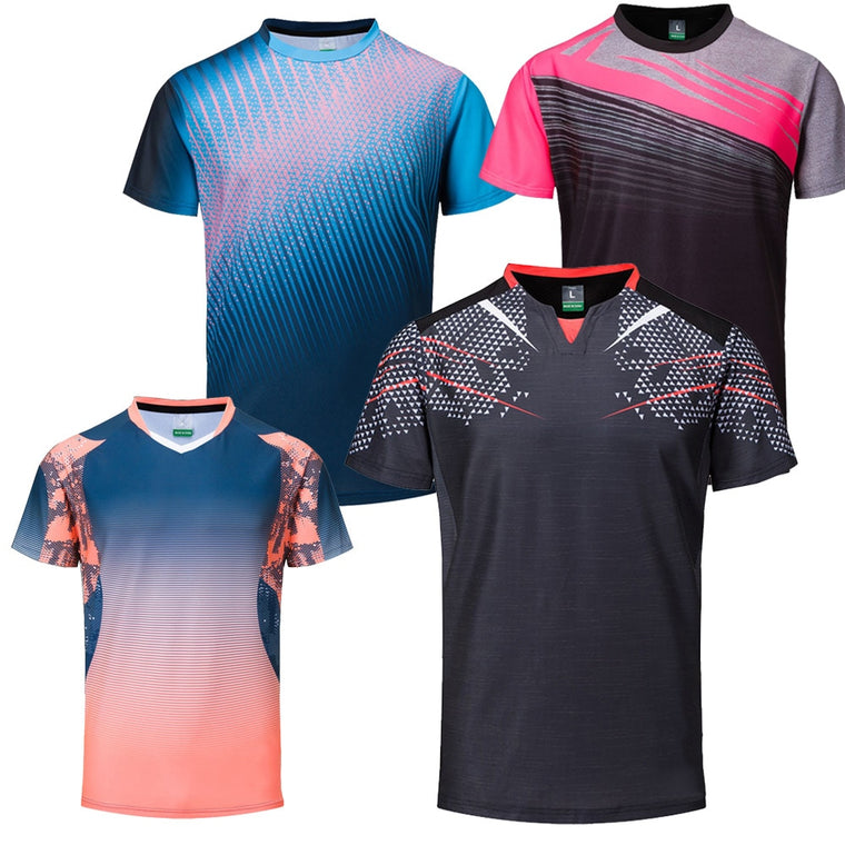 New Badminton shirts Men , sport shirt Tennis shirts Male , table tennis tshirt , Quick dry Fitness  sports training tshirts