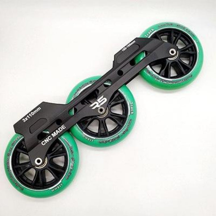 free shipping speed skates frame 3x110 mm wheels cnc made 165-195mm