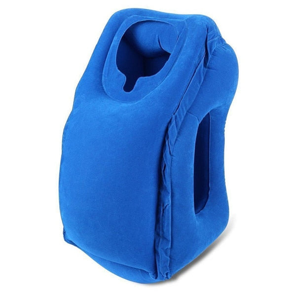 XC USHIO Inflatable Travel Sleeping Bag Portable Cushion Neck Pillow for Men Women Outdoor Airplane Flight Train Sleeping Easy
