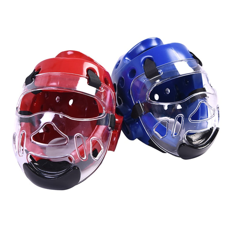 Taekwondo Headgear Karate Martial Arts Sparring Helmet Adult Head Guard DIY Blue Red S M L XL