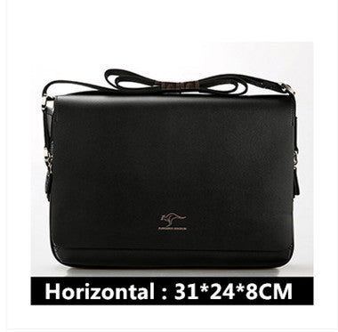 New Arrived Brand Kangaroo men's messenger bag Vintage leather shoulder bag Handsome crossbody bag Free Shipping