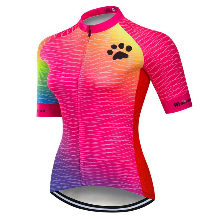 Weimostar pro team Women Cycling Jersey Breathable Bicycle Wear Summer Short Sleeve MTB Bike Jersey Top Quick Dry Cycling Shirt