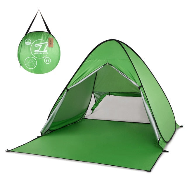 Automatic Tent Instant Pop Up Beach Tent Lightweight UV Protection Fishing Sun Shelter Tent Cabana 165 * 150 * 110cm