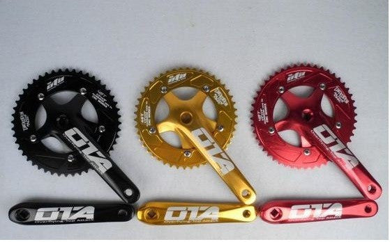 NEW 7075 48T single speed fixed gear fixie bike crankset cycling Road track bicycle crank set chain wheel