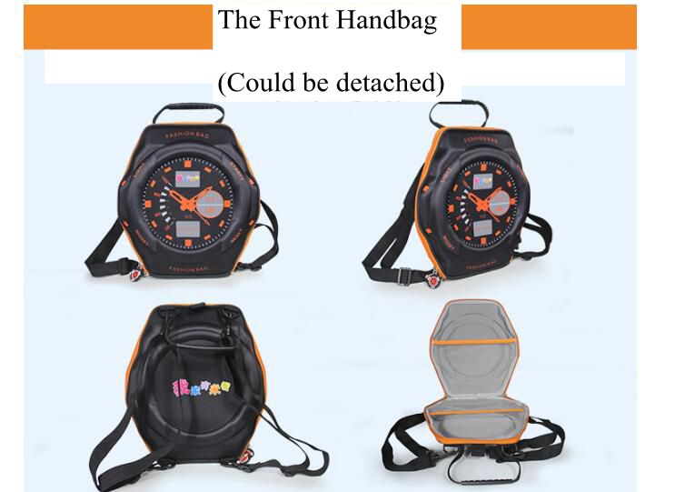 3D  Children  Travel Luggage Backpack on wheels Boy's trolley School Backpack with wheels Kids wheeled Rolling Bags for school