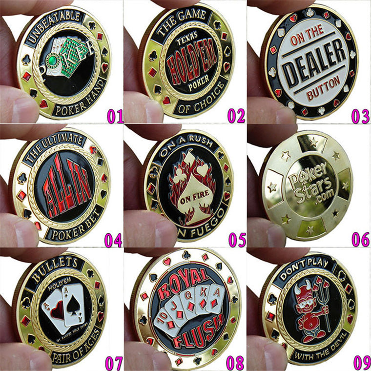 101 kinds Option  Metal Banker Chips ,Press Card Accessories,High Quality Poker Chips Texas Hold'em Accessories