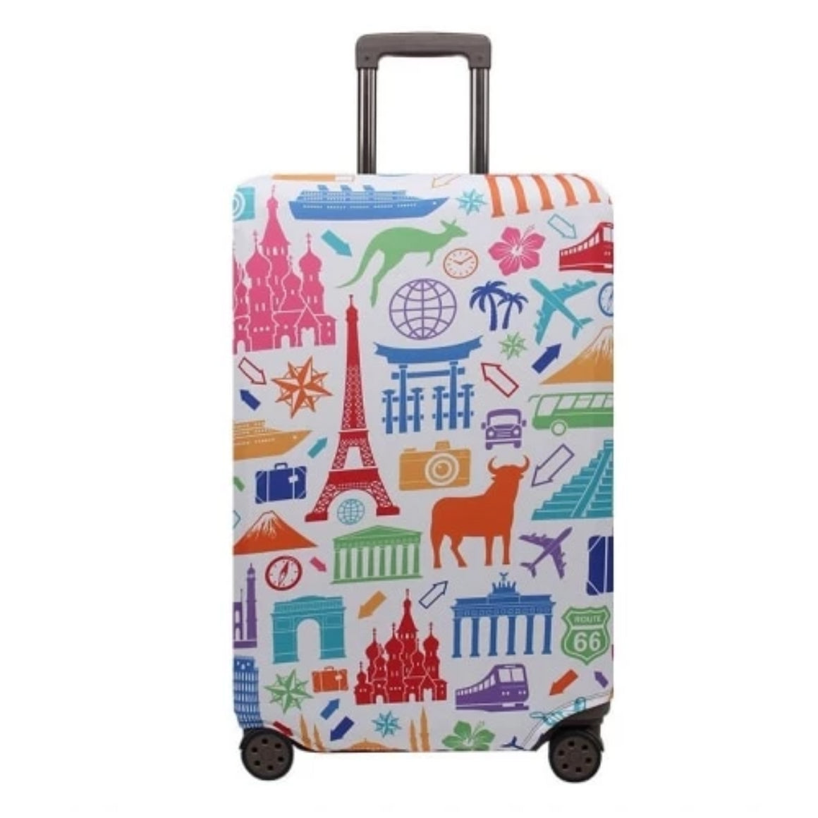 Flamingo Pattern Fashion Suitcase Case Trolley Case Dust Cover Travel Accessories Fit 18-32 Size Luggage Protection Cover