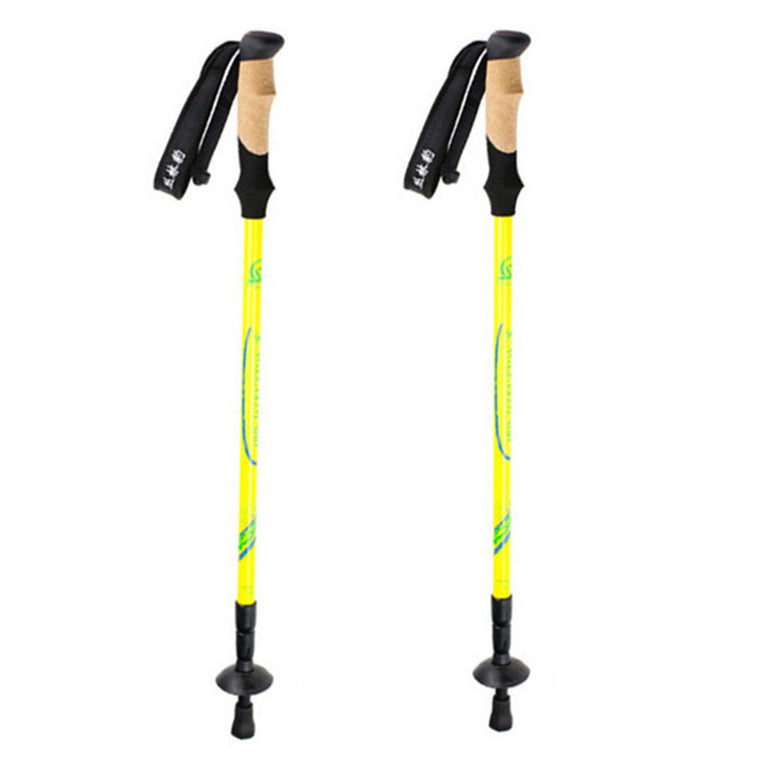 Ultralight Nordic Walking Sticks Adjustable Carbon Fiber Trekking,Hiking Poles with Carrying Case 1 Pair