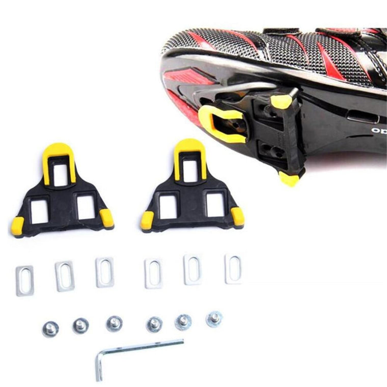 1 Set Road Bicycle Self-locking Pedal Cleat Cycling Pedal Bike Bicycle Cleat for Shimano Road SM-SH11 SPD-SL Yellow Red Colors