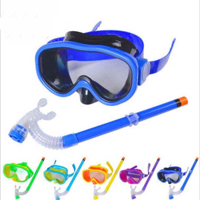 swimming eyewear 2pcs Snorkeling breathing tube and glasses for kids swim wear diving multi color