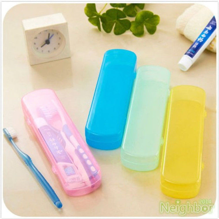 Good Useful Travel Portable Toothbrush Toothpaste Storage Box Cover Protect Case