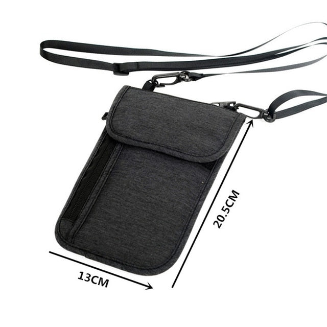 Neck Hanging Travel Accessory Passport Cover Wallet Credit ID Card Holder Air Tickets Package Case Unisex Storage Organizer bag