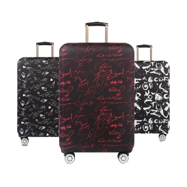 Color : Paris, Size : M Oureong Luggage Cover 18-32 Inch Anti-Scratch Luggage Cover Washable Spandex Baggage Suitcase Cover Anti-Scratch Dustproof Suitcase Cover 22-24