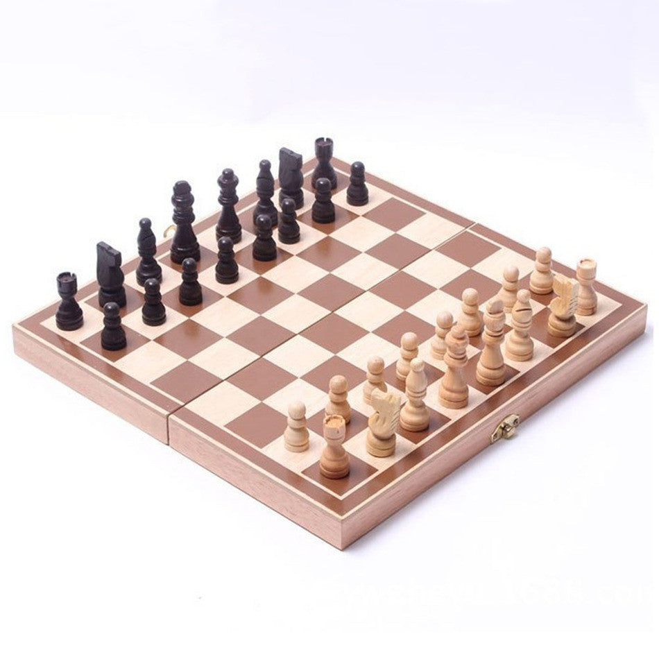 Funny Folding Folable Wooden International Chess Set Board Game Funny Game Sports Entertainment