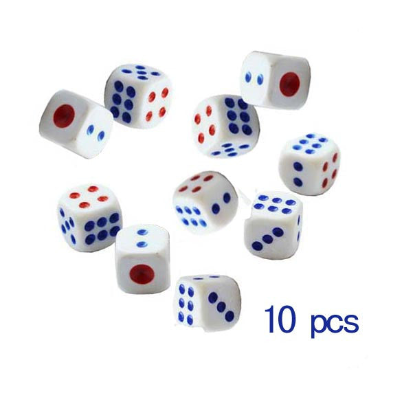 Hot Sale 10Pcs/Set Standard Plastic 10mm Game White Dice Die Drop Shipping Wholesale Price ARE4