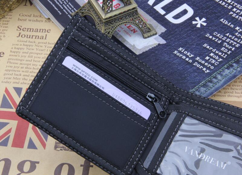 Hot Selling Mens Short Denim Fabric Wallet Best Soft Canvas Purse Bifold  Fashion Ultra-thin Male Wallet Casual Money Bag