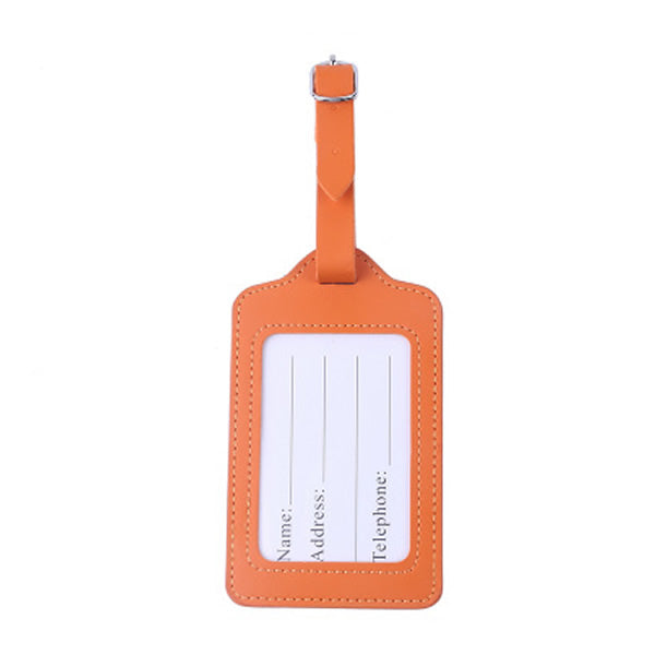 Fashion Travel Accessories PU Leather Luggage Tag Cover Suitcase ID Address Holder Letter Baggage Boarding Tags Portable Label
