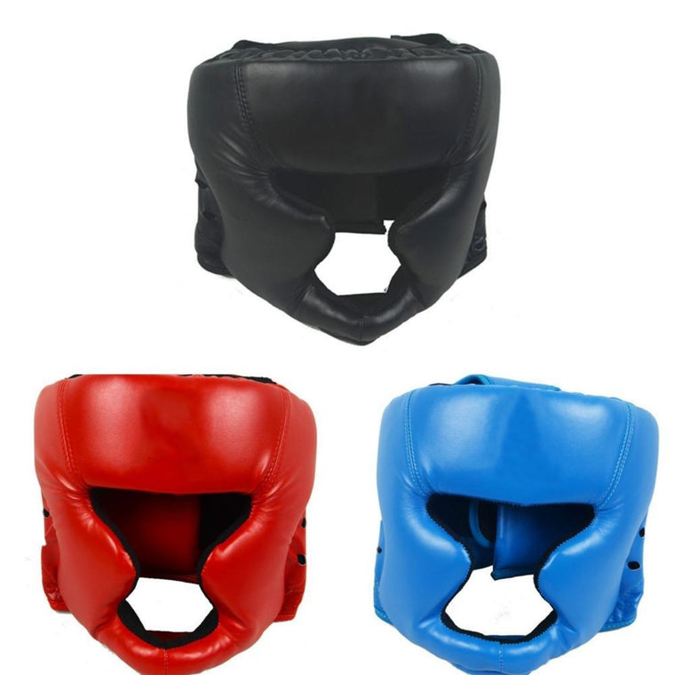 Mounchain Closed Full-Face Boxing Protection Gear Headgear Head Guard Trainning Helmet for Muay Thai Kickboxing