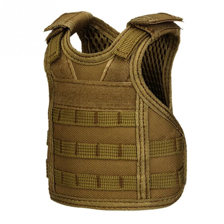 Tactical Vest Layer Military Beer Bottle Set Mini Molle vest Hunting Bottle Drink set Adjustable Shoulder Straps