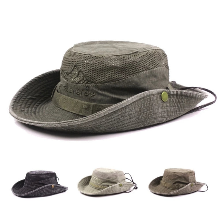 Tri-polar Hiking Hat Men Wide Brim Foldable Cap Summer Hat Sun Protection Hunting Hat Hiking Fishing Camping Outdoor Sport Caps