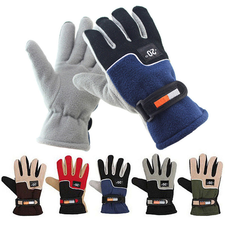 Men Winter Warm Fleece Thermal Motorcycle Ski Snow Snowboard Gloves Polar fleece guantes ciclismo cycling gloves 5 Colors